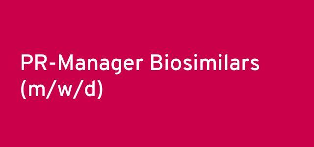 PR-Manager Biosimilars (m/w/d)