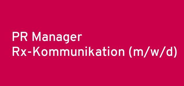 PR Manager Rx-Kommunikation (m/w/d)